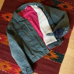 Knit Lined Jean Jacket